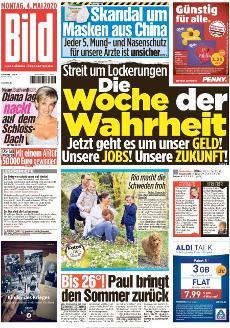 Bild-Zeitung 4. Mai 2020