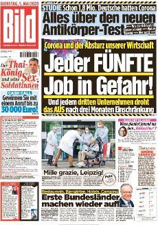 Bild-Zeitung 5. Mai 2020
