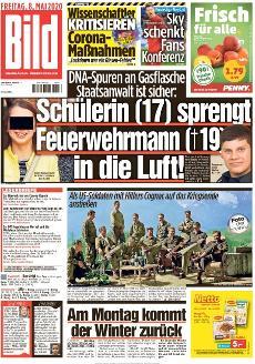 Bild-Zeitung 8. Mai 2020