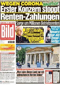 Bild-Zeitung 9. Mai 2020