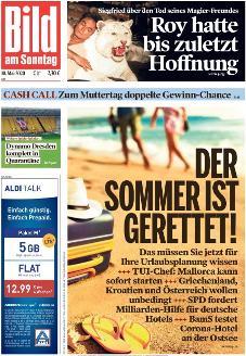 Bild-Zeitung 10. Mai 2020