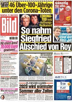Bild-Zeitung 11. Mai 2020