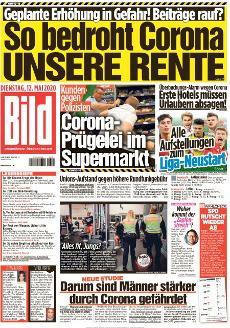 Bild-Zeitung 12. Mai 2020