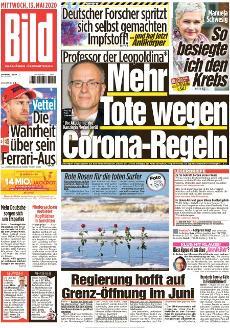 Bild-Zeitung 13. Mai 2020