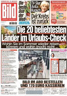 Bild-Zeitung 14. Mai 2020