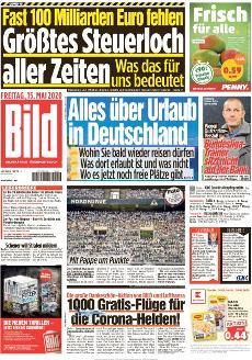 Bild-Zeitung 15. Mai 2020