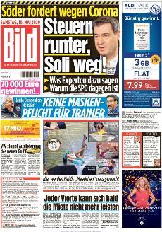 Bild-Zeitung 16. Mai 2020