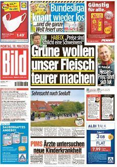 Bild-Zeitung 18. Mai 2020