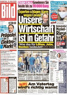 Bild-Zeitung 19. Mai 2020