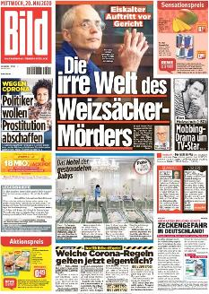 Bild-Zeitung 20. Mai 2020