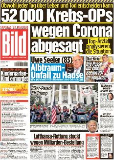 Bild-Zeitung 23. Mai 2020