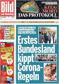 Bild-Zeitung 24. Mai 2020