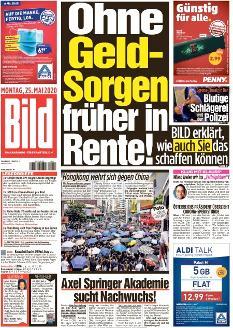 Bild-Zeitung 25. Mai 2020