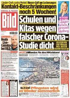 Bild-Zeitung 26. Mai 2020