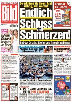 Bild-Zeitung 2. Juni 2020