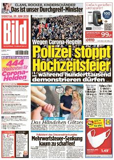 Bild-Zeitung 9. Juni 2020
