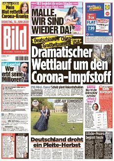Bild-Zeitung 16. Juni 2020