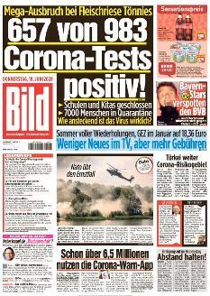 Bild-Zeitung 18. Juni 2020