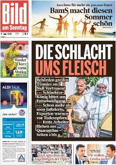 Bild-Zeitung 21. Juni 2020