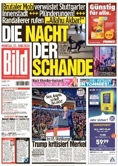 Bild-Zeitung 22. Juni 2020
