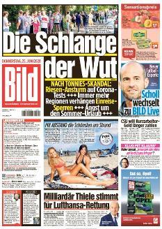 Bild-Zeitung 25. Juni 2020