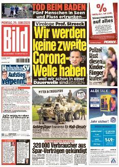 Bild-Zeitung 29. Juni 2020
