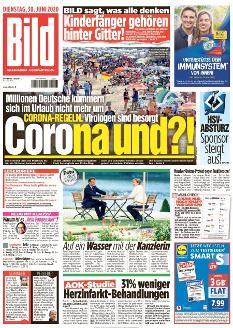 Bild-Zeitung 30. Juni 2020