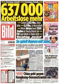 Bild-Zeitung 2. Juli 2020