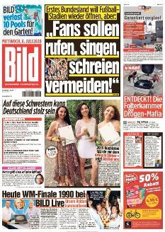 Bild-Zeitung 8. Juli 2020
