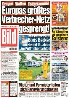 Bild-Zeitung 9. Juli 2020