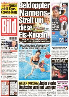 Bild-Zeitung 11. Juli 2020