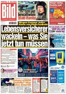 Bild-Zeitung 13. Juli 2020