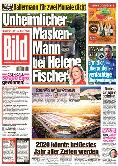 Bild-Zeitung 16. Juli 2020