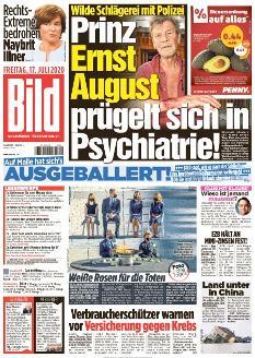Bild-Zeitung 17. Juli 2020