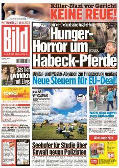 Bild-Zeitung 22. Juli 2020