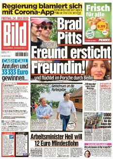 Bild-Zeitung 24. Juli 2020