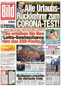 Bild-Zeitung 25. Juli 2020