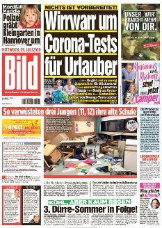 Bild-Zeitung 29. Juli 2020