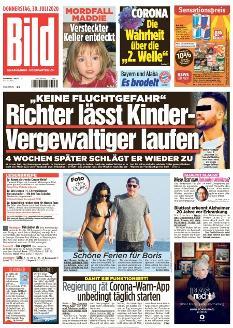 Bild-Zeitung 30. Juli 2020