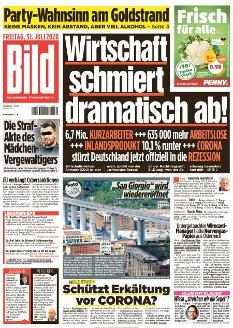 Bild-Zeitung 31. Juli 2020