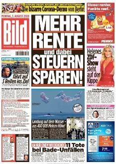 Bild-Zeitung 3. August 2020