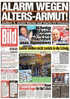 Bild-Zeitung 4. August 2020