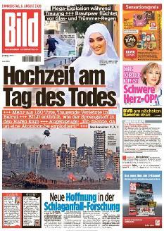 Bild-Zeitung 6. August 2020