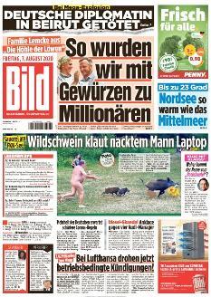 Bild-Zeitung 7. August 2020