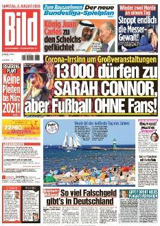 Bild-Zeitung 8. August 2020