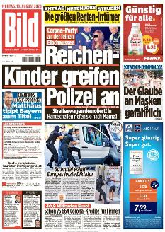 Bild-Zeitung 10. August 2020
