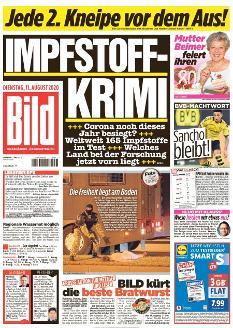 Bild-Zeitung 11. August 2020
