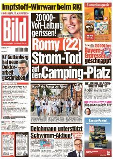 Bild-Zeitung 13. August 2020