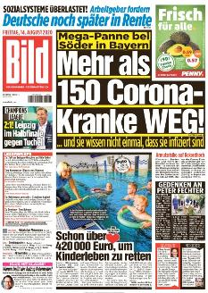 Bild-Zeitung 14. August 2020