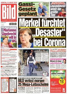 Bild-Zeitung 18. August 2020